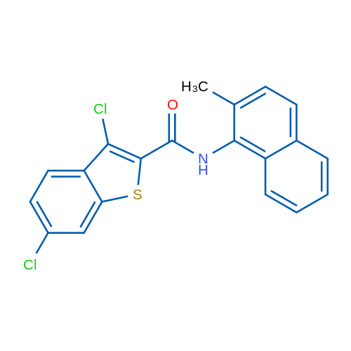 3,6-Dichloro-N-(2-methylnaphthalen-1-yl)benzo[b]thiophene-2-carboxamide