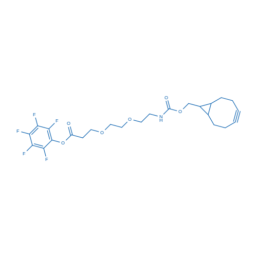 Prfluorophenyl 1-(bicyclo[6.1.0]non-4-Yn-9-Yl)-3-Oxo-2,7,10-Trioxa-4-Azatridecan-13-Oate