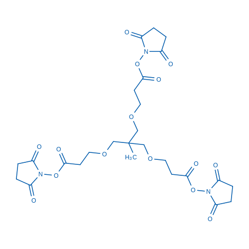 Bis(2,5-dioxopyrrolidin-1-yl) 3,3'-((2-((3-((2,5-dioxopyrrolidin-1-yl)oxy)-3-oxopropoxy)methyl)-2-methylpropane-1,3-diyl)bis(oxy))dipropanoate