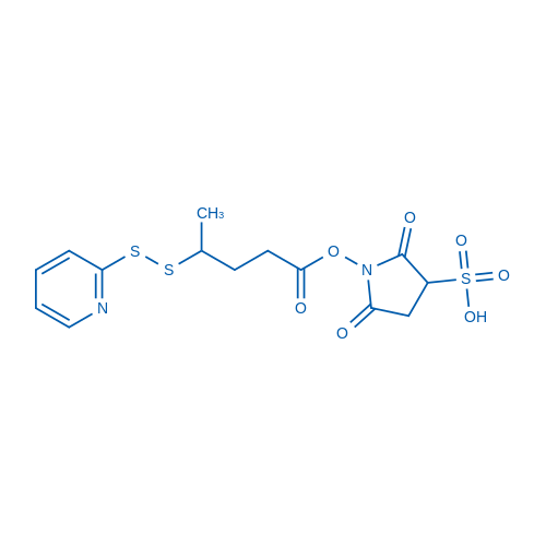 2,5-dioxo-1-(4-(pyridin-2-yldisulfanyl)pentanoyloxy)pyrrolidine-3-sulfonic acid