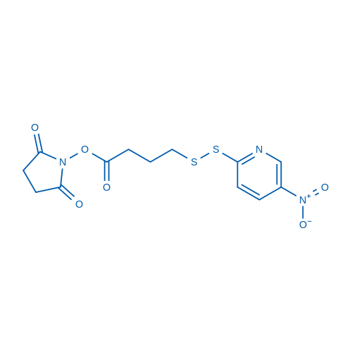 2,5-dioxopyrrolidin-1-yl 4-((5-nitropyridin-2-yl)disulfanyl)butanoate