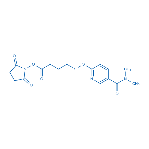 2,5-dioxopyrrolidin-1-yl 4-((5-(dimethylcarbamoyl)pyridin-2-yl)disulfanyl)butanoate