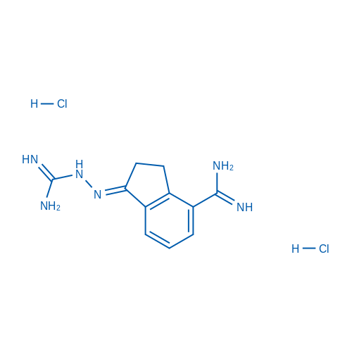 2-(4-Carbamimidoyl-2,3-dihydro-1H-inden-1-ylidene)hydrazine-1-carboximidamide dihydrochloride