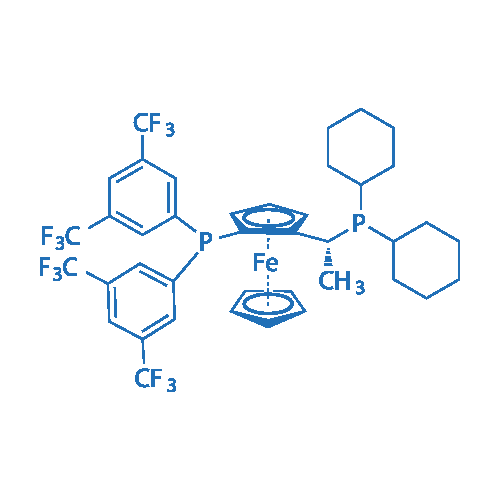 (R)-1-{(SP)-2-[Bis[3,5-bis(trifluoromethyl)phenyl]phosphino]ferrocenyl}ethyldicyclohexylphosphine
