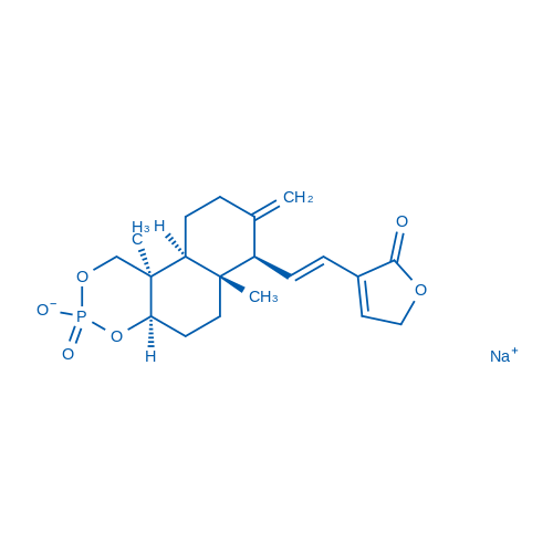 Sodium (4aR,6aR,7R,10aS,10bR)-6a,10b-dimethyl-8-methylene-7-((E)-2-(2-oxo-2,5-dihydrofuran-3-yl)vinyl)decahydro-1H-naphtho[2,1-d][1,3,2]dioxaphosphinin-3-olate 3-oxide