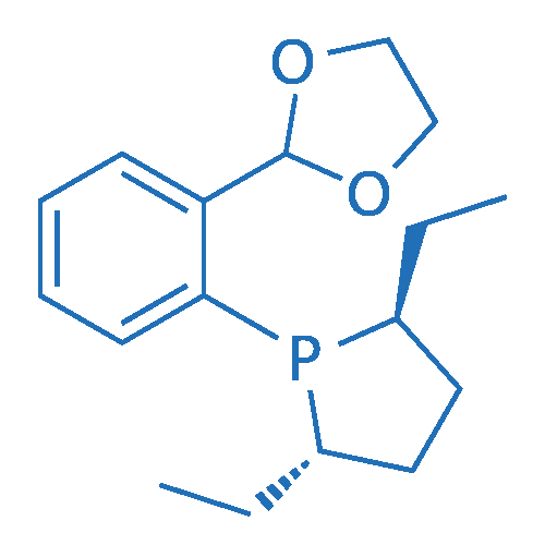 trans-1-(2-(1,3-Dioxolan-2-yl)phenyl)-2,5-diethylphospholane