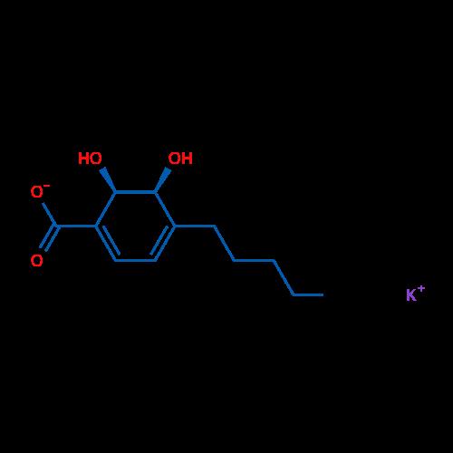 Potassium (5S,6R)-5,6-dihydroxy-4-pentylcyclohexa-1,3-dienecarboxylate
