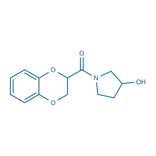 (2,3-Dihydrobenzo[b][1,4]dioxin-2-yl)(3-hydroxypyrrolidin-1-yl)methanone