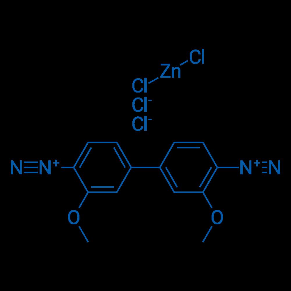 3,3'-Dimethoxy-[1,1'-biphenyl]-4,4'-bis(diazonium) tetrachlorozincate(II)