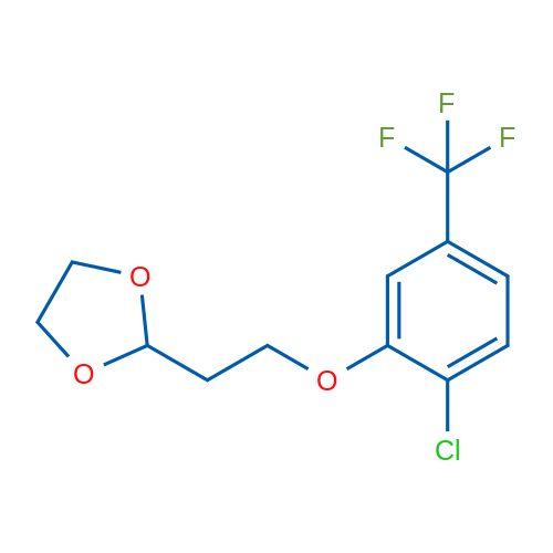 2-(2-(2-Chloro-5-(trifluoromethyl)phenoxy)ethyl)-1,3-dioxolane