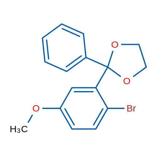 2-Bromo-5-methoxybenzophenone ethylene ketal