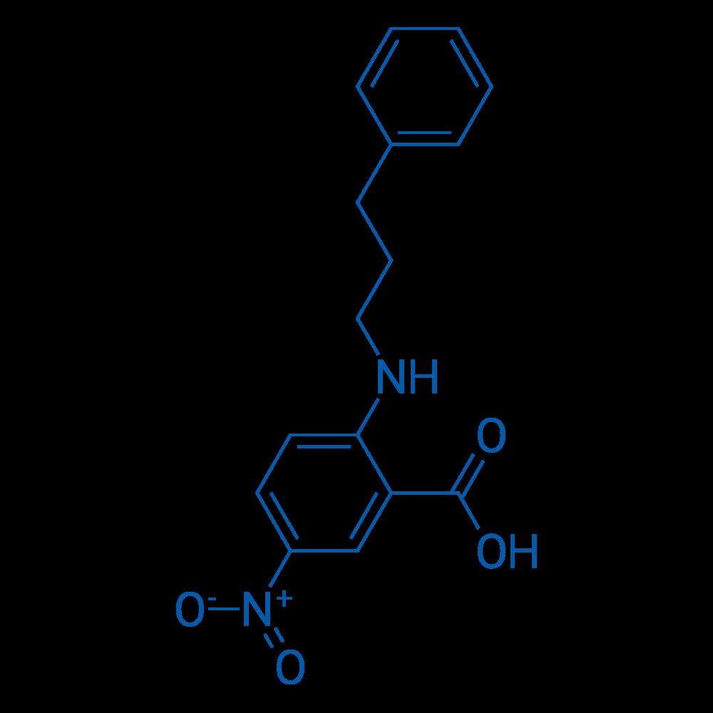 5-Nitro-2-((3-phenylpropyl)amino)benzoic acid