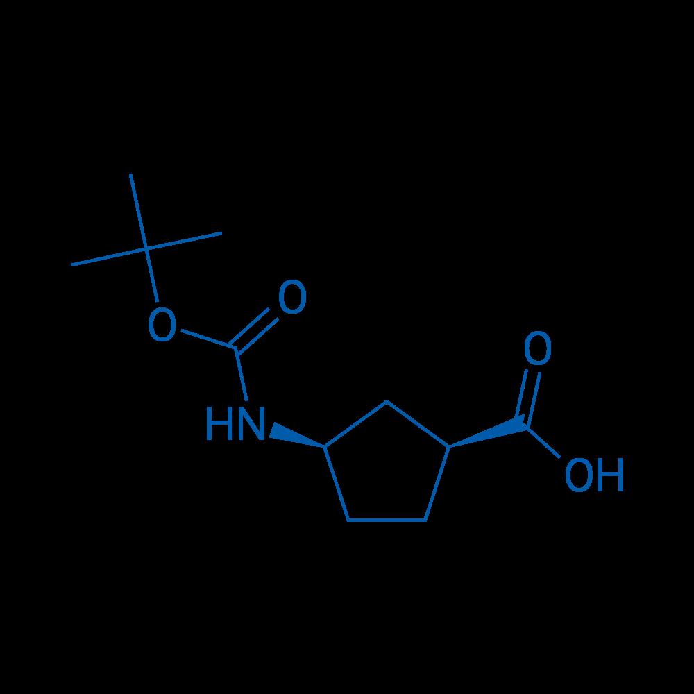(1S,3R)-3-((tert-Butoxycarbonyl)amino)cyclopentanecarboxylicacid