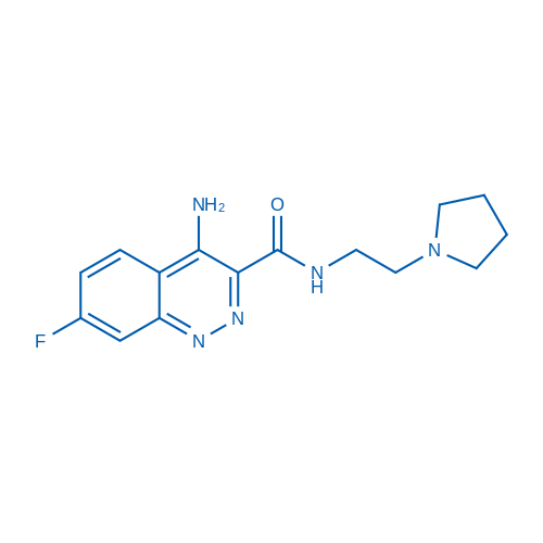 4-Amino-7-fluoro-N-(2-(pyrrolidin-1-yl)ethyl)cinnoline-3-carboxamide