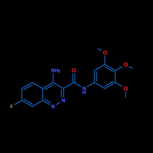 4-Amino-7-fluoro-N-(3,4,5-trimethoxyphenyl)cinnoline-3-carboxamide