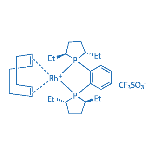 1,2-Bis[(2S,5S)-2,5-diethylphospholano]benzene(1,5-cyclooctadiene)rhodium(I) trifluoromethanesulfonate