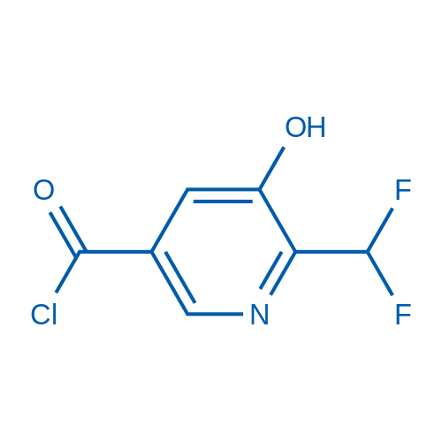 2-(Difluoromethyl)-3-hydroxypyridine-5-carbonyl chloride