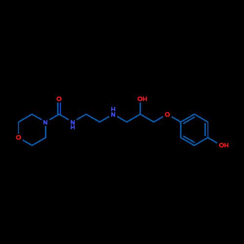 N-(2-((2-Hydroxy-3-(4-hydroxyphenoxy)propyl)amino)ethyl)morpholine-4-carboxamide