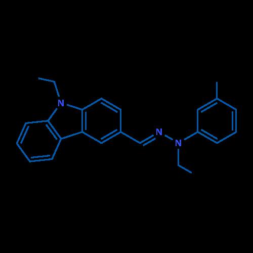9-Ethyl-3-((2-ethyl-2-(m-tolyl)hydrazono)methyl)-9H-carbazole