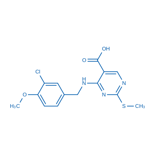 4-((3-Chloro-4-methoxybenzyl)amino)-2-(methylthio)pyrimidine-5-carboxylic acid