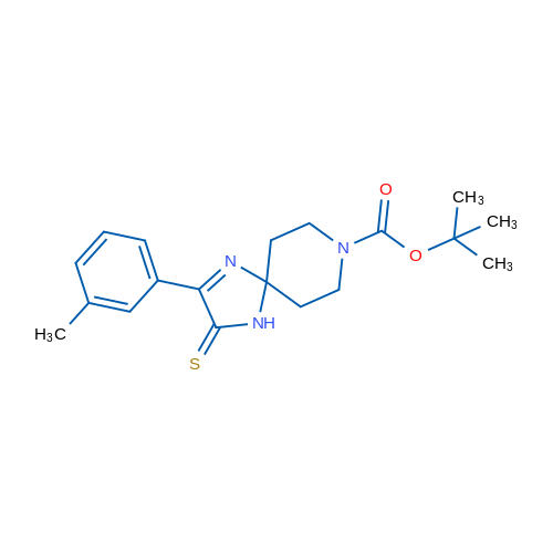 tert-Butyl 3-thioxo-2-(m-tolyl)-1,4,8-triazaspiro[4.5]dec-1-ene-8-carboxylate