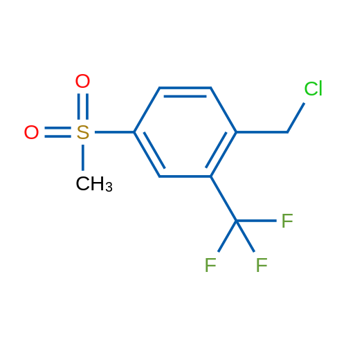 1-(Chloromethyl)-4-(methylsulfonyl)-2-(trifluoromethyl)benzene