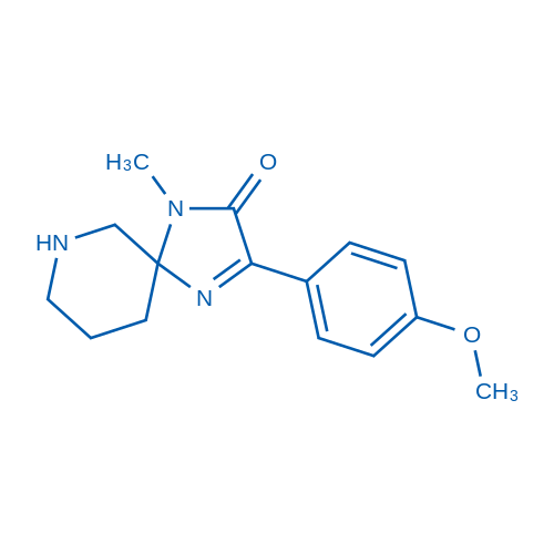 3-(4-Methoxyphenyl)-1-methyl-1,4,7-triazaspiro[4.5]dec-3-en-2-one