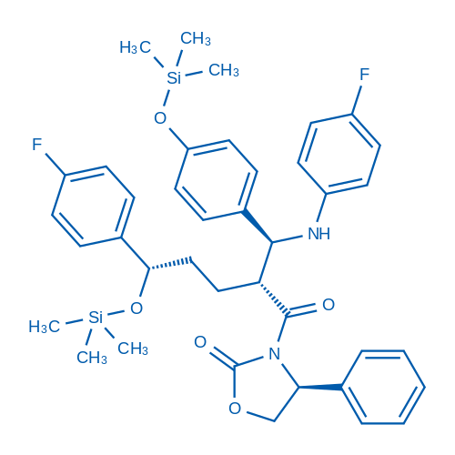 (S)-3-((2R,5S)-5-(4-Fluorophenyl)-2-((S)-((4-fluorophenyl)amino)(4-((trimethylsilyl)oxy)phenyl)methyl)-5-((trimethylsilyl)oxy)pentanoyl)-4-phenyloxazolidin-2-one
