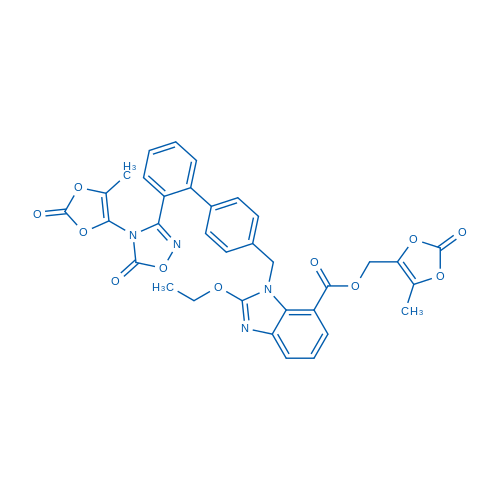 (5-Methyl-2-oxo-1,3-dioxol-4-yl)methyl 2-ethoxy-1-((2'-(4-(5-methyl-2-oxo-1,3-dioxol-4-yl)-5-oxo-4,5-dihydro-1,2,4-oxadiazol-3-yl)-[1,1'-biphenyl]-4-yl)methyl)-1H-benzo[d]imidazole-7-carboxylate