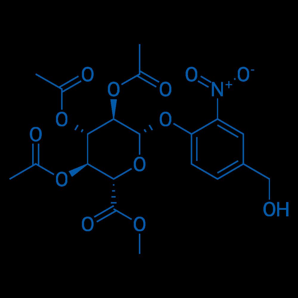 (2S,3R,4S,5S,6S)-2-(4-(Hydroxymethyl)-2-nitrophenoxy)-6-(methoxycarbonyl)tetrahydro-2H-pyran-3,4,5-triyl triacetate