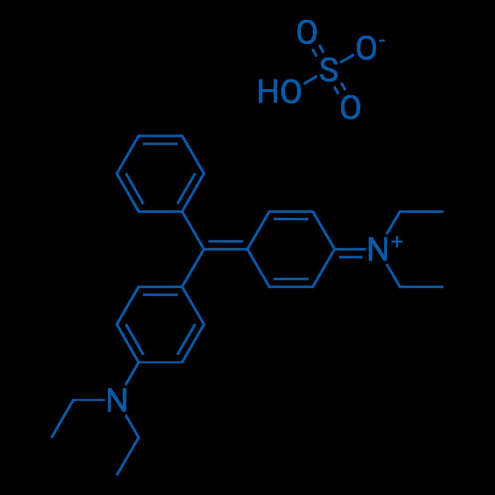 Ethanaminium, N-[4-[[4-(diethylamino)phenyl]phenylmethylene]-2,5-cyclohexadien-1-ylidene]-N-ethyl-, sulfate (1:1)