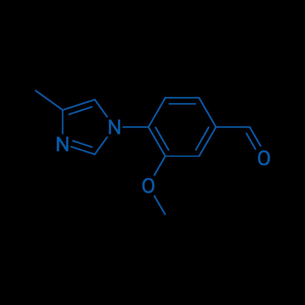 3-Methoxy-4-(4-methyl-1H-imidazol-1-yl)benzaldehyde