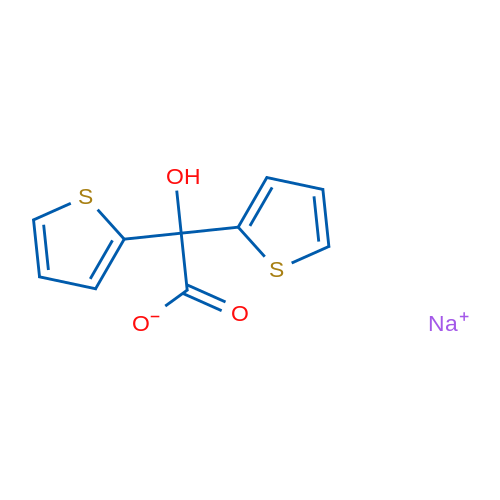 Sodium 2-hydroxy-2,2-di(thiophen-2-yl)acetate