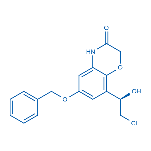 (R)-6-(Benzyloxy)-8-(2-chloro-1-hydroxyethyl)-2H-benzo[b][1,4]oxazin-3(4H)-one