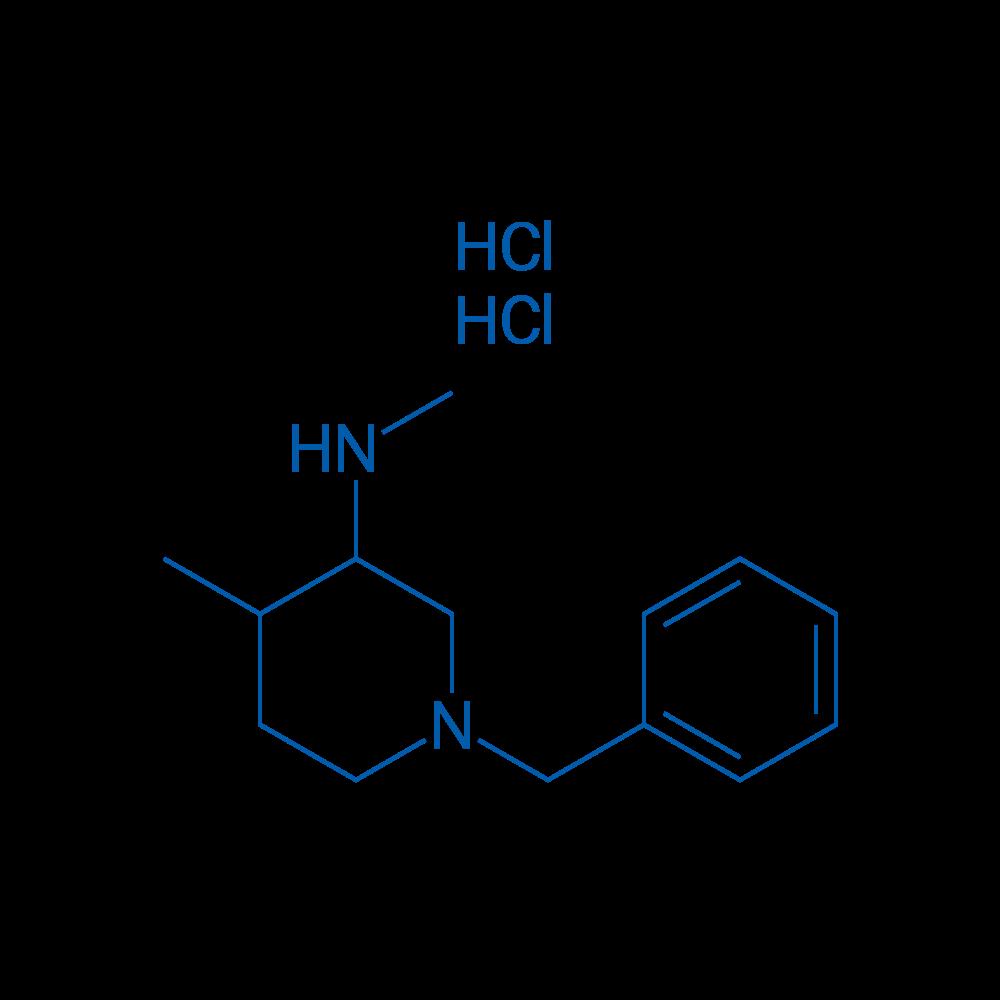 1-Benzyl-4-methyl-3-(methylamino)piperidine Dihydrochloride