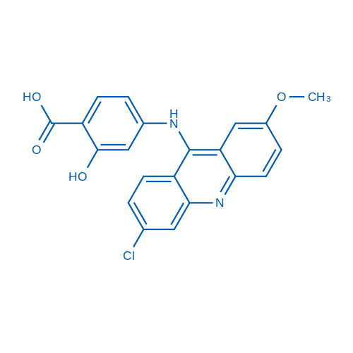 4-((6-Chloro-2-methoxyacridin-9-yl)amino)-2-hydroxybenzoic acid