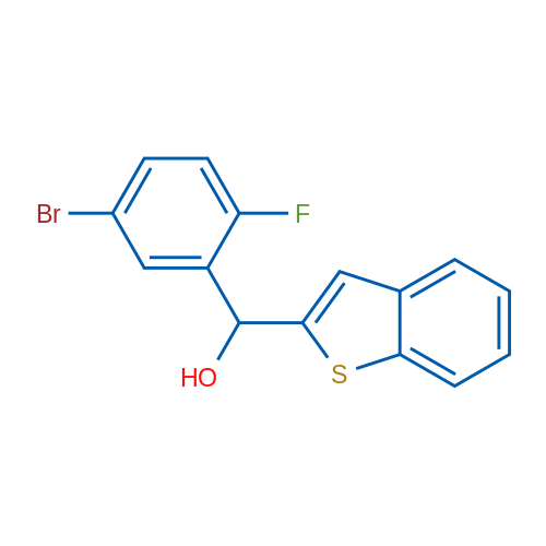 Benzo[b]thiophen-2-yl(5-bromo-2-fluorophenyl)methanol