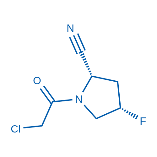(2S,4S)-1-(2-Chloroacetyl)-4-fluoropyrrolidine-2-carbonitrile