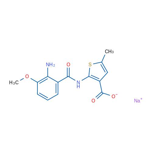 Sodium 2-(2-amino-3-methoxybenzamido)-5-methylthiophene-3-carboxylate