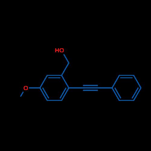 (5-Methoxy-2-(phenylethynyl)phenyl)methanol