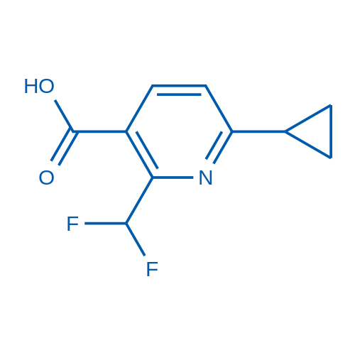 6-Cyclopropyl-2-(difluoromethyl)nicotinic acid