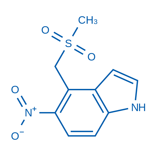 4-((Methylsulfonyl)methyl)-5-nitro-1H-indole