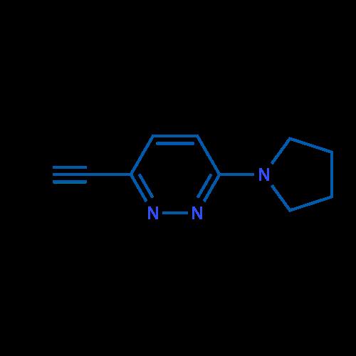 3-Ethynyl-6-(pyrrolidin-1-yl)pyridazine
