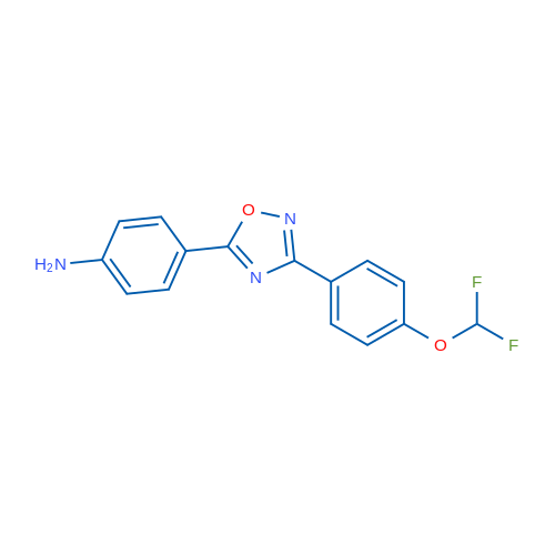 4-(3-(4-(Difluoromethoxy)phenyl)-1,2,4-oxadiazol-5-yl)aniline