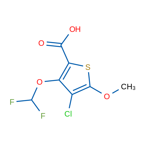 4-Chloro-3-(difluoromethoxy)-5-methoxythiophene-2-carboxylic acid
