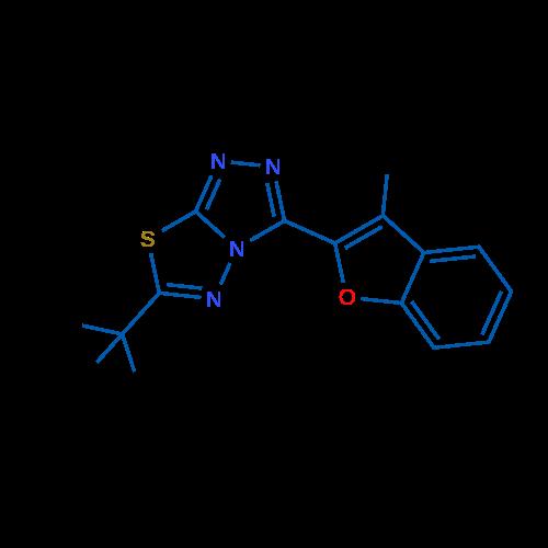 6-(tert-Butyl)-3-(3-methylbenzofuran-2-yl)-[1,2,4]triazolo[3,4-b][1,3,4]thiadiazole