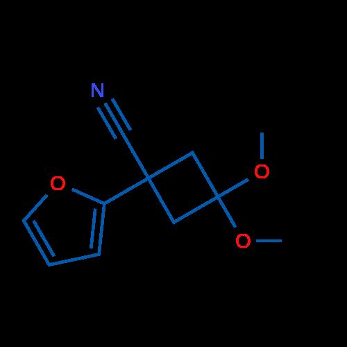 1-(Furan-2-yl)-3,3-dimethoxycyclobutanecarbonitrile