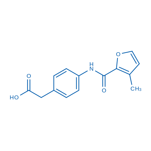 2-(4-(3-Methylfuran-2-carboxamido)phenyl)aceticacid
