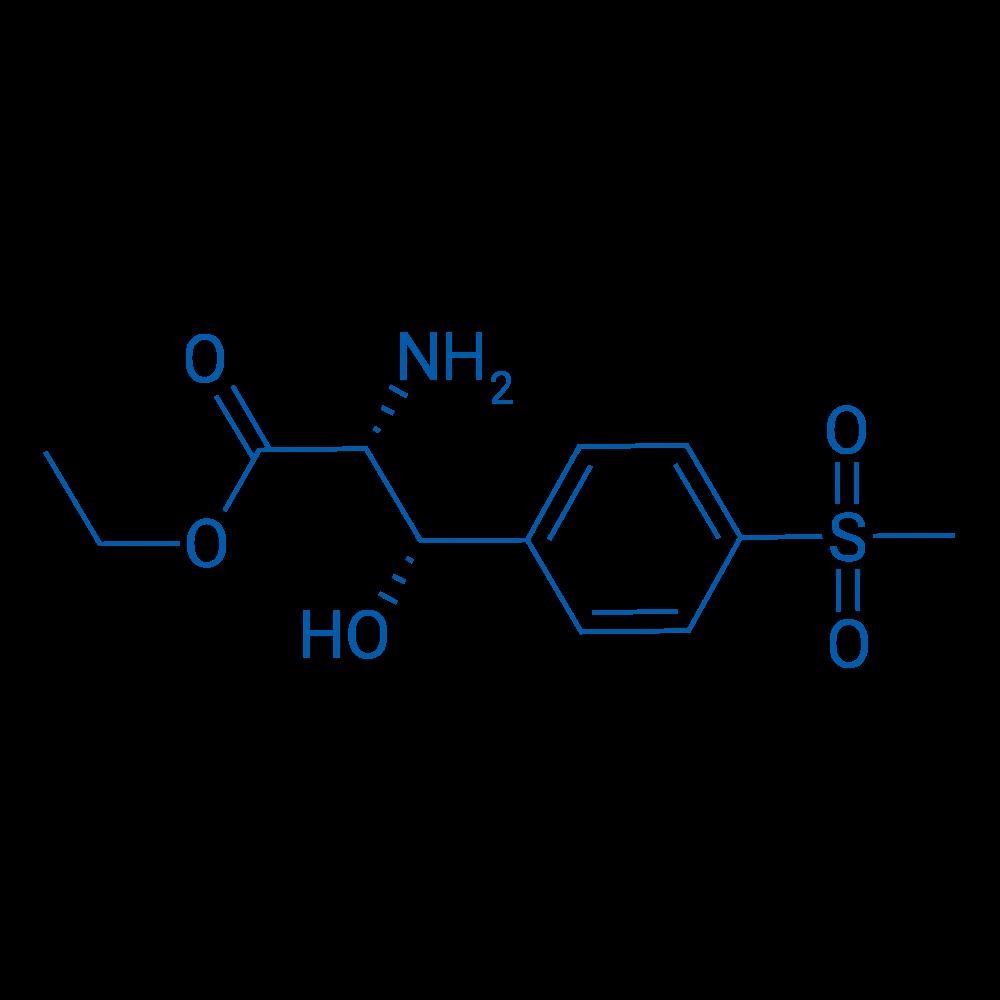 (2R,3S)-Ethyl 2-amino-3-hydroxy-3-(4-(methylsulfonyl)phenyl)propanoate