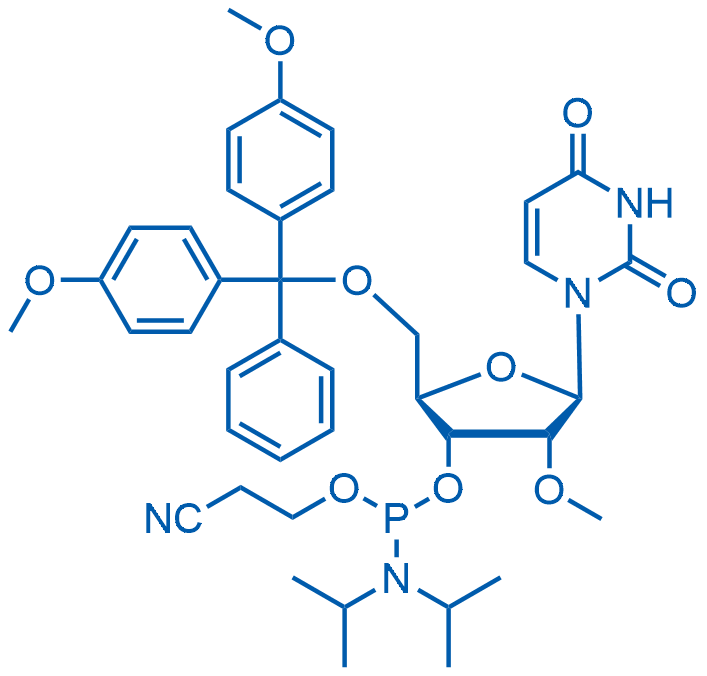 5'-O-(4,4'-Dimethoxytrityl)-2'-O-methyluridine-3'-(2-cyanoethyl-N,N-diisopropyl)phosphoramidite